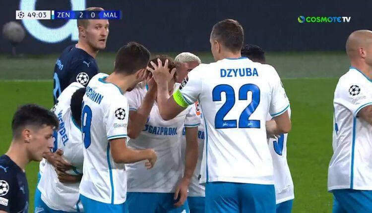 Ζενίτ-Μάλμε: Το 2-0 ο Κουζιάεφ (VIDEO)