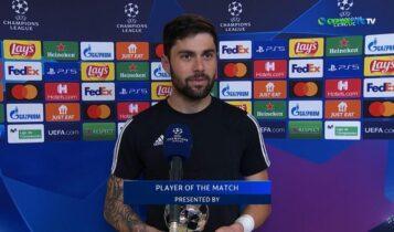 Αθανασιάδης: «Χαρούμενος για το βραβείο του MVP-Ημουν έτοιμος να κλάψω στο δεύτερο γκολ» (VIDEO)