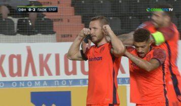 ΟΦΗ-ΠΑΟΚ: Απευθείας εκτέλεση φάουλ ο Κούρτιτς για το 2-0 (VIDEO)