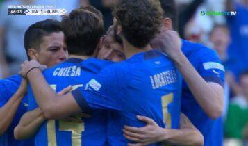Ιταλία-Βέλγιο: Εκπληκτική εκτέλεση από τον Μπαρέλα για το 1-0 (VIDEO)