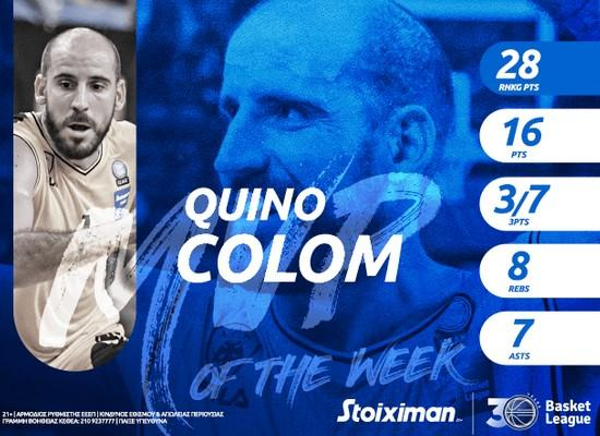 ΑΕΚ: MVP της αγωνιστικής ο Κίνο Κολόμ! (ΦΩΤΟ)