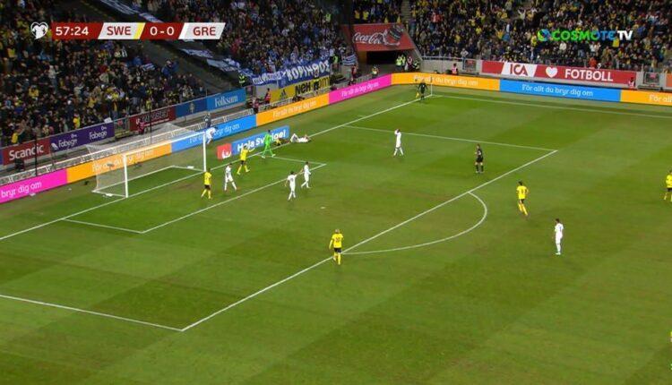 Σουηδία-Ελλάδα: Πέναλτι του Μαυροπάνου, 1-0 ο Φόρσμπεργκ (VIDEO)