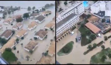 Κακοκαιρία: Απίστευτες εικόνες στην Κέρκυρα από τις πλημμύρες (VIDEO)