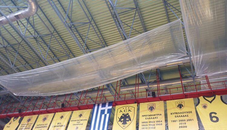 Απίστευτο: Κάλυψαν με μουσαμάδες, όπως... όπως την οροφή στα Λιόσια! (ΦΩΤΟ)