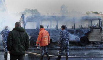 Συρία: Φονική έκρηξη σε λεωφορείο του στρατού στη Δαμασκό (VIDEO)