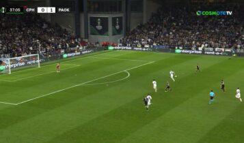 Κοπεγχάγη-ΠΑΟΚ: Το 0-2 στην αντεπίθεση ο Ζίφκοβιτς (VIDEO)