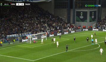 Κοπεγχάγη-ΠΑΟΚ: Σέντρα Ζίφκοβιτς, κεφαλιά Σίντκλεϊ και 0-1 (VIDEO)