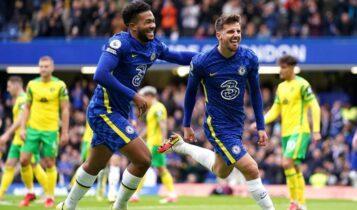 Premier League: Διέλυσε τη Νόριτς 7-0 και παρέμεινε μόνη πρώτη η Τσέλσι (VIDEO)