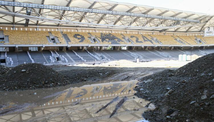 «OPAP Arena»: VIDEO από τις σημερινές εργασίες στον Ναό της ΑΕΚ